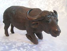 Water Buffalo figurine statue carved heavy solid piece wildlife animal large