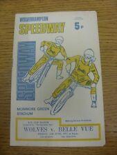 11/06/1971 Speedway Programme: Wolverhampton v Belle Vue [KO Cup Match] (writing