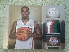 2013-14 Totally Certified BRANDON JENNINGS Gold 5 Color Patch #d/25 Pistons