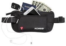 Kollea Money Belt Hidden Travel Wallet Passport Holder W RFID Blocking Unisex