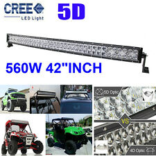 "CREE 5D 560W 42""INCH LED Combo Work Light Bar Offroad Driving Lamp 4WD Truck SUV"