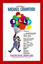 "Michael Crawford ""BILLY"" Elaine Paige / John Barry / Don Black 1974 London Flyer"
