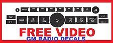 GM radio button decals stickers tahoe Yukon sierra Silverado Avalanche suburban