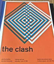The Clash  ROCK AND ROLL BAND MINI POSTER CONCERT  REPRINT -OPTICAL ARTWORK