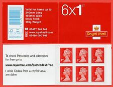 MB12b 6 x 1st ' MSIL ' ' M14L ' English / Welsh Self Adhesive Booklet