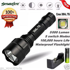 Bright 5000Lm CREE XM-L T6 LED Flashlight 5 Mode Torch Tactical Focus Light Lamp