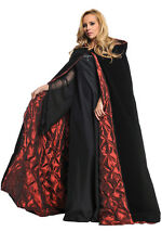 ADULTS UNISEX ROBES CAPE DLX VELVET/EMBR LIN 63 IN HALLOWEEN COSTUME - ONE SIZE