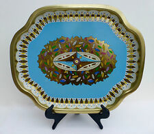 "Vintage Baret Ware Tin Serving Tray ""236 LEAVES"" Modernist Art Deco Pattern"