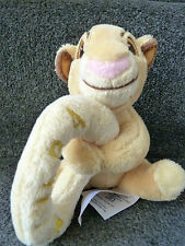 DISNEY STORE SIMBA SOFT PLUSH RATTLE RARE  COMFORTER/GRABBER LION KING