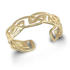 NEW  9ct Yellow Gold Adjustable Celtic Toe Ring