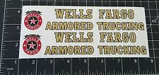 CUSTOM WELLS FARGO ARMORED TRUCK DECAL SET