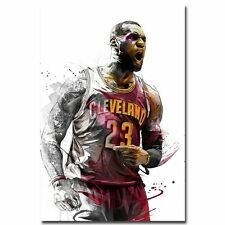 Lebron James Super basketball Star Art Silk Poster Wall Decor 60x90cm