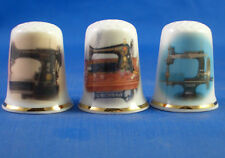 Birchcroft Thimbles -- Set of Three -- Singer Sewing Machines