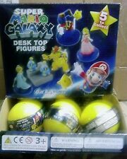 Super Mario Galaxy Desk Top Figures Tomy Gacha case of 18 Party Favors New