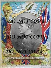 "WILLIAM MCFADZEAN VICTORIA CROSS PATRIOTIC PRINT ""MUST SEE"""