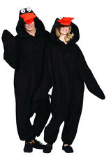 ADULT BLACK DUCK LAFFY DAFFY DUCKY ZOO ANIMAL PAJAMAS COSTUME JUMPSUIT