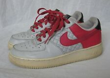 Women's NIKE AIR FORCE ONE 1 LOW ATHLETIC SHOES Size 8 Berry Pink Gray Black