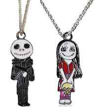 NIGHTMARE BEFORE CHRISTMAS JACK & SALLY LOVERS 2 PIECE CHARM PENDANTS