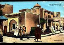 RABAT (MAROC) COMMERCES , Rue EL-GZA animée en 1922