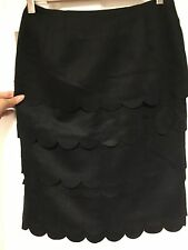 Nwt Anthropologie Maeve Scalloped Pencil Skirt Size 4