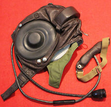 NEW  Flight Helmet Air Force Mig-15 Fighter Pilot Leather SIZE:2 # XXLONLY: 39.9