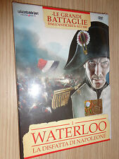 DVD N°1 LE GRANDI BATTAGLIE DALL´ANTICHITA´ ALL´800 WATERLOO DISFATTA NAPOLEONE