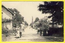 cpa Rare ORCHAMPS (Jura) PASSAGE à NIVEAU Route de GENDREY Chemin de Fer Animé