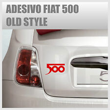 adesivo logo fiat 500 abarth tuning sticker old style stickers auto vetri casco