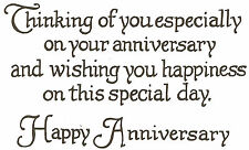 Happy Anniversary Text, Wood Mounted Rubber Stamp NORTHWOODS - NEW, M2420