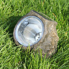 New Large Outdoor Garden 4-LED Solar Decorative Rock Stone Spot Lights Lamp Yard