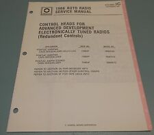 GM Delco 1988 Auto Radio Pontiac Control Head Service Manual 27D-1988-3C