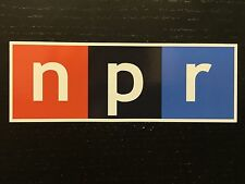 "Large National Public Radio NPR Bumper Sticker Decal Car Wall Truck 25""x8"""