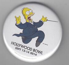 2014 EXCLUSIVE HOLLYWOOD BOWL THE SIMPSONS HOMER SIMPSON PIN BADGE BUTTON