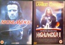 HIGHLANDER 1 & 2 [One,Two] Quickening Lambert*Connery Action Fantasy DVD *EXC*