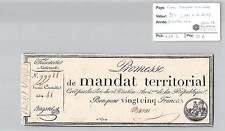 MANDAT TERRITORIAL - 25 FRANCS (AVEC LE N° DE SERIE) 28 VENTOSE AN 4 - 99988