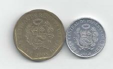 2 COINS from PERU - 1 & 10 CENTIMOS (BOTH 2008)