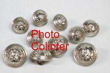 Ensemble de 10 boutons chromés  Sapeur Pompiers : Bûcher - 4 x 21mm + 6 x 16mm