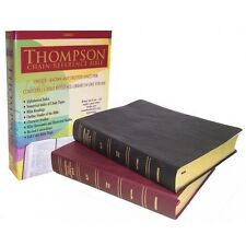 KJV Thompson Chain-Reference Large Print Bible Genuine Leather Burgundy Indexed