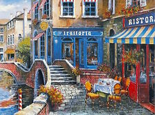 """""""Outdoor Cafe"""" Limited Edition Lithograph by Anatoly Metlan COA # 41 of 50"""