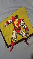 Vintage 80s 1986 Colossus T-Shirt Marvel Comic Book X-Men Excalibur Superhero