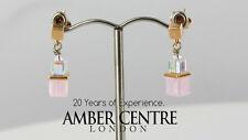 HAND MADE COEUR DE LION PALE PINK GLASS AND CRYSTAL EARRINGS-4734/1900 RRP £45
