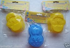Silicone Bakeware Lot of 3 Bunny & Chick in Egg for Baking Chocolate Ice Jello