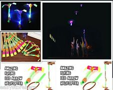 12pcs Arrow Helicopter Elastic Rocket Children Outdoor Toy with Blue LED Light