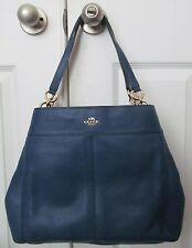 Coach F57545 Lexy Shoulder Bag In Pebble Leather Marina NWT $395 MSRP