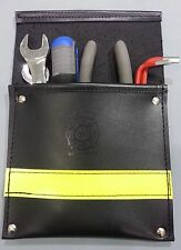 Sav-A-Jake Firefighter Leather Pocket Tool Pouch w/3M Solid Yellow Reflective