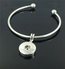 DIY 1pcs Handmade Charm Fashion Bangle Bracelet fit Chunk Snap Button NEW   ##2