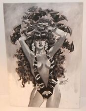 Vampirella Ink Wash Commission - 1972 Signed art by Jerry Grandenetti