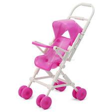 Passeggino a Ombrello Carrozzina Gioco per Bambole Plastica Rosa Bianco ex1l