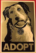 ADOPT LEAD BY EXAMPLE STICKER OBEY GIANT SHEPARD FAIREY MINI SCREEN PRINT POSTER