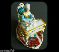 Dresden figurine of victorian woman with piano - FREE SHIPPING